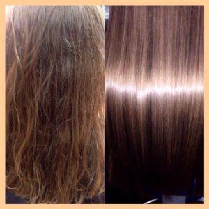 Ботокс для волос до и после